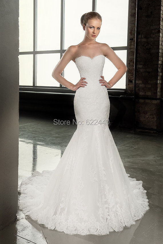 Applique Mermaid Wedding Dresses With Detachable Jacket Sweetheart Bridal Gown Sweep Train Wedding Gown vestido de