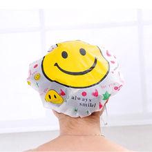 HOT SALE Cute Household Super Cartoon Waterproof Shower Caps Women Bath Spa Caps Elastic Hats 1PC(China (Mainland))
