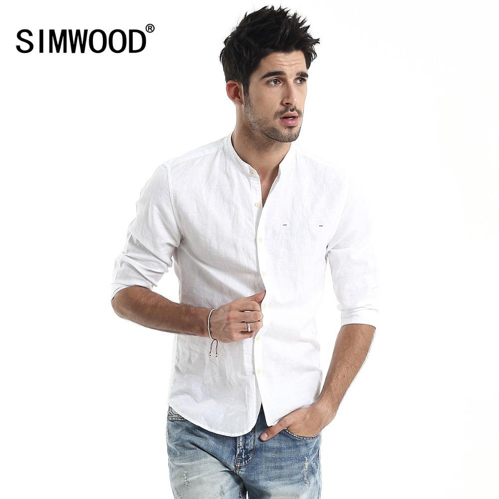 Brand casual mens white slim fit shirt fashion shirts for Mens slim white shirt