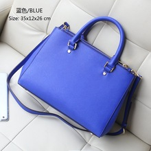 high quality 2015 New Fashion PU leather ladies brand double zipper bag Famous Designers tote shoulder bag women handbags female(China (Mainland))