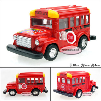 Baby school bus red baby WARRIOR alloy car model free air mail