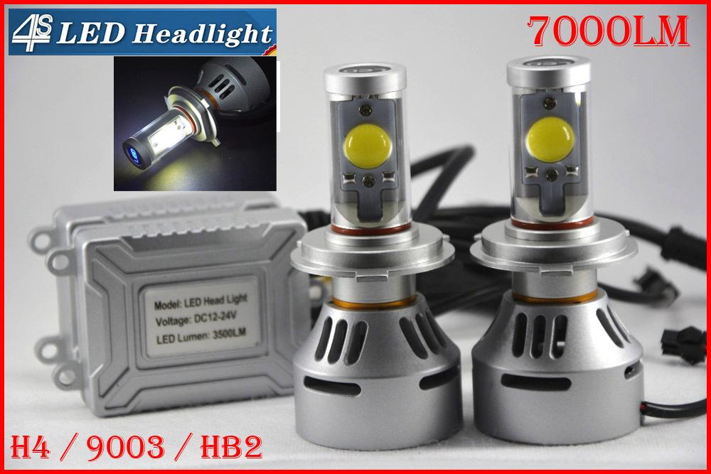 Фотография 4 Sets H4 72W 7000LM CREE Auto LED Headlight 12/24V 4S NEW UPGRADED MT-G2 LED CHIPS Changeable Colors 3K 4.3K 6K 8K 10K Free DIY