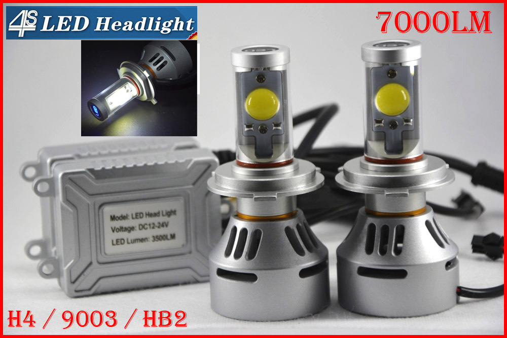4 Sets H4 72W 7000LM CREE Auto LED Headlight 12/24V 4S NEW UPGRADED MT-G2 LED CHIPS Changeable Colors 3K 4.3K 6K 8K 10K Free DIY(China (Mainland))