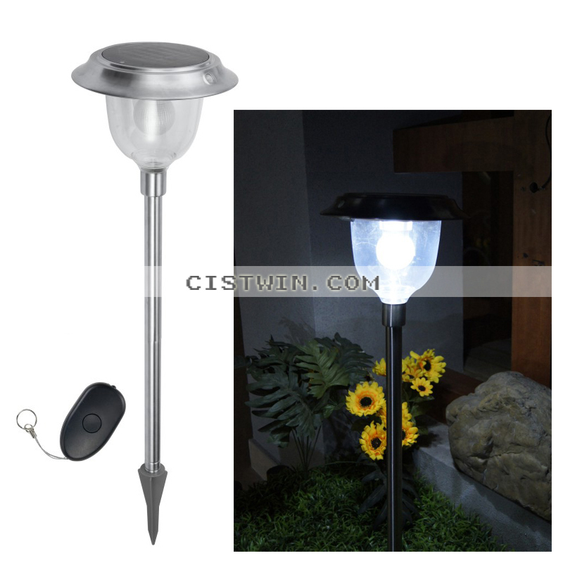 5 Led Remote Control Solar Color Changing Lawn Light Pathway Garden Outdoor Lighting Solar Lamps