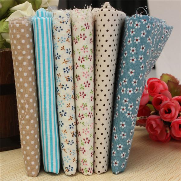 6COLORS Blue Cotton fabric fat quarter bundle tilda Diy cloth sewing craft home textile fabric patchwork quilting(China (Mainland))