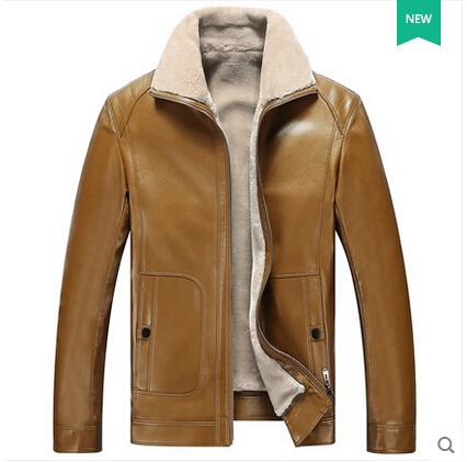 Plain Leather Jacket Mens Winter Leather Jacket Men