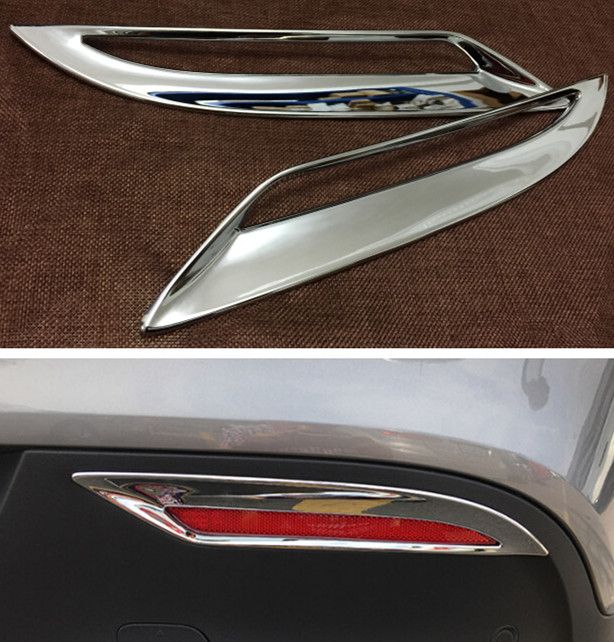 2pcs ABS Chrome Rear Tail Fog Light Lamp Cover Trim Sticker for Mercedes Benz GLE Class Coupe C292 2015 Car Styling