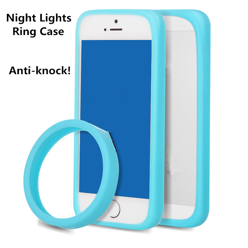 Anti-Knock Luminous bracelet Silicon case for BQ Aquaris HD 5 5.0 5HD case Night Lights hand ring bumper cover for bq aquaris 5(China (Mainland))