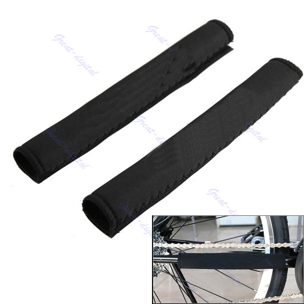 Free Shipping 1 Pair Cycling Bicycle Bike Frame Chain Stay Chainstay Protector Guard Pad(China (Mainland))