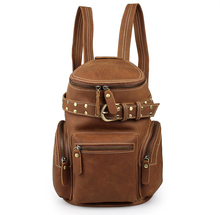 Free Shipping JMD Vintage National Genuine Leather Backpacks For Teenage Girls # 7290B(China (Mainland))