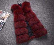 New Winter Genuine Fox Fur Vest Women's Full Pelt Gilet Warm Luxury Natural Fox Fur Waistcoat(China (Mainland))