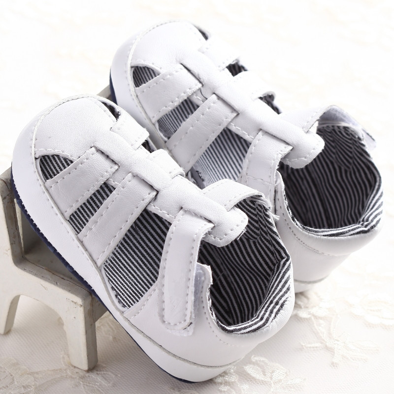 S1171 New Arrival Baby Boy's Girl's Toddler Sandals Newborn to 18 Months White Soft Sole Baby Shoes Wholesale White Blue(China (Mainland))