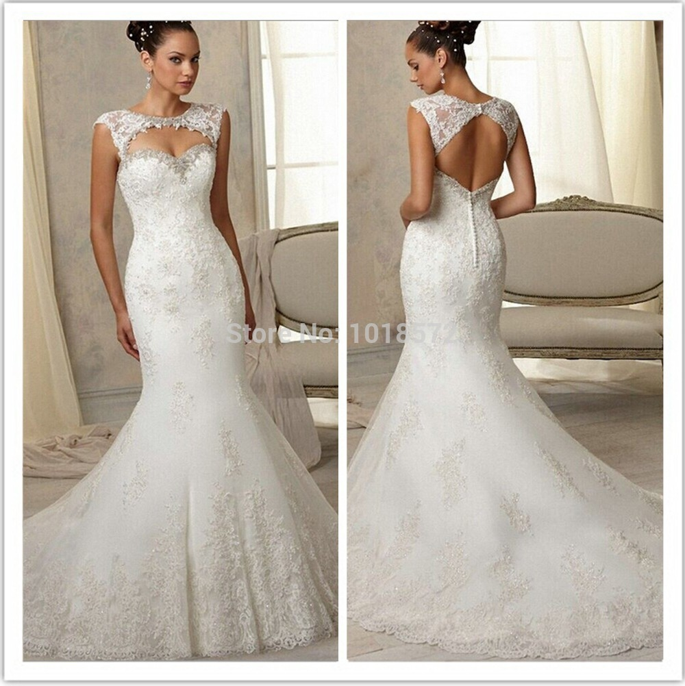 2015 glamorous wedding dress high quality sexy lace for Mermaid wedding dress with straps