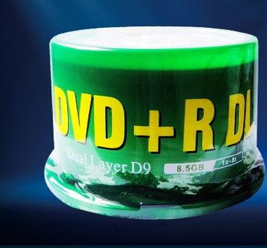 Banana large-capacity DVD CD DVD+R DL 8.5G 8x D9 12CM burn plate blank 10PCS/LOT(China (Mainland))