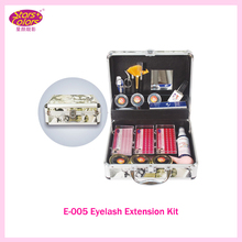 2016 Double Layer Beauty Grafting Eyelash Extension Kit False EyeLash Lashes Makeup Set with Silver Box Case Salon Free shipping