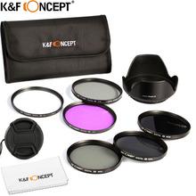 52mm UV CPL FLD ND2 ND4 ND8 Lens Camera Filter Kit + 52mm Lens Hood + Lens Cap+ Filter Bag For Nikon D5200 D5100 D3200 D3100