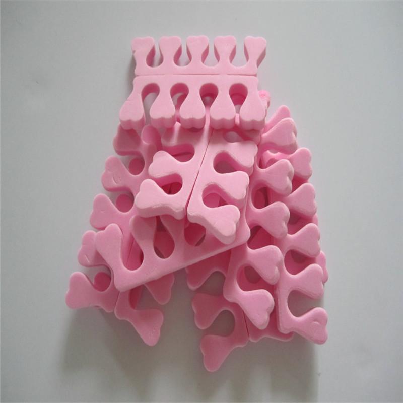 20pcs (10 pairs) Soft EVA Foam Toe Separator Corrector Foot Toe Finger Separator Feet Care Braces&Supports Nails Tools(China (Mainland))