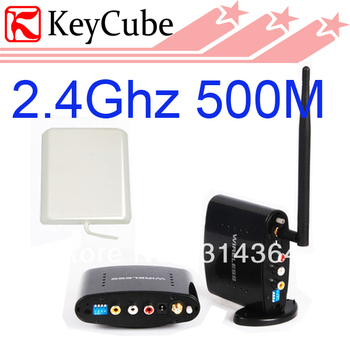 2.4Ghz PAT370 Digital TV STB Wireless AV Sender and Receiver 500M Long Distance Support 6 Channel Free  shipping
