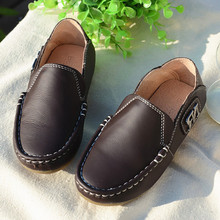 Genuine leather Boys shoes Fashion Kids Shoes Boys school Shoes non-slip Children Sport Sneaker Free shipping(China (Mainland))