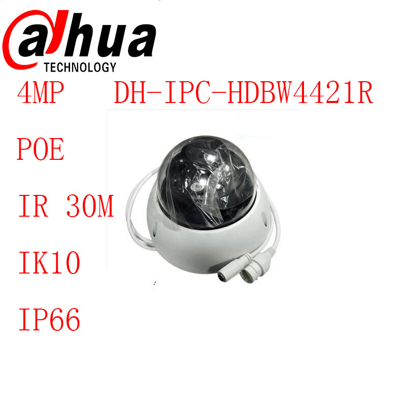 Фотография Original Dahua  IPC-HDB4421R  IR HD 1080p IP Camera 4MP IR security cctv Dome Camera Support POE network camera English firmware