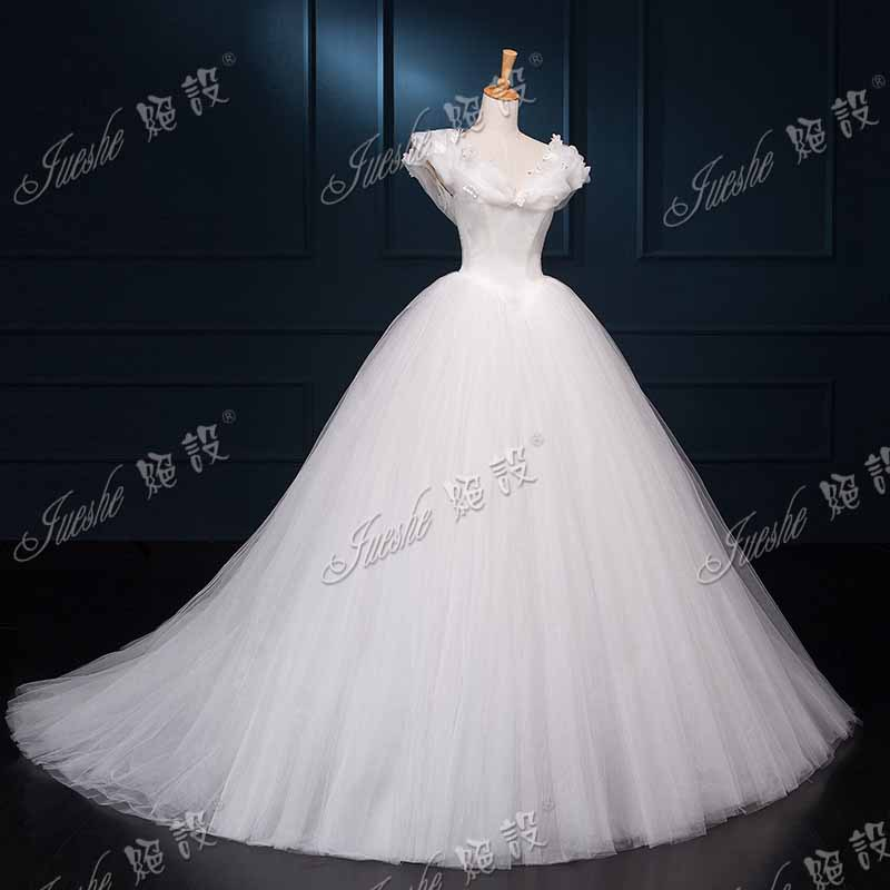 The gallery for cinderella white wedding dress for White cinderella wedding dress