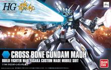 100% Genuine bandai model /Free shipping / 2015new/ HG 1/144 HGBF Pirate skull Gundam change CROSS BONE / Assembled Model Robot