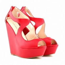 Factory Discount Sexy Peep Toe Women Sandals Wedges Shoes Platform Sandals Summer Shoes For Women Big Size 35-42 SMYNLK-A0035(China (Mainland))