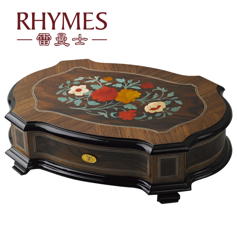 RHYMES 50 Note Hand Cranked jewelry music box wooden musical gift birthday gift Y50M16(China (Mainland))