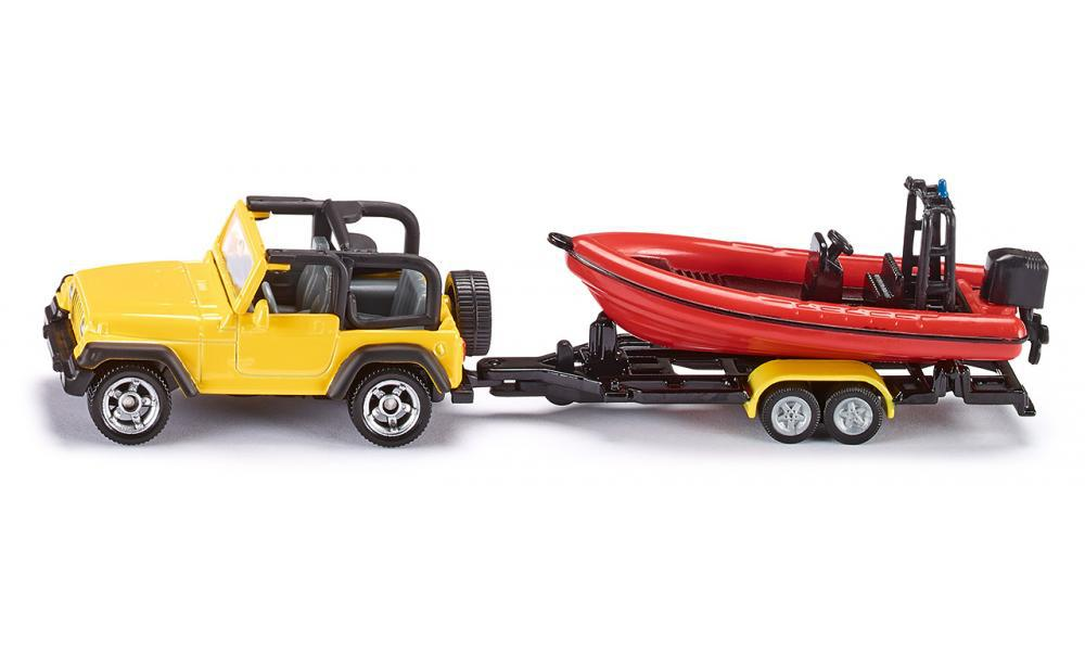 siku 1658 Jeep with boat 1:87 alloy model car toy child gift collection(China (Mainland))