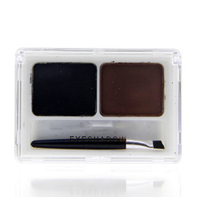2 Colors Eye Brow Powder Palette Shading Brush Makeup Eyebrow Cosmetic Kit
