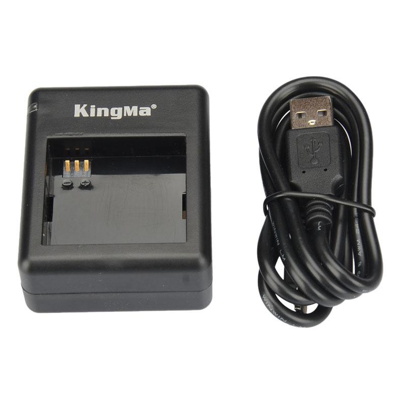 KingMa Xiaomi yi battery 2PCS 1010mAh xiaoyi battery xiao yi battery charger For xiaomi yi action