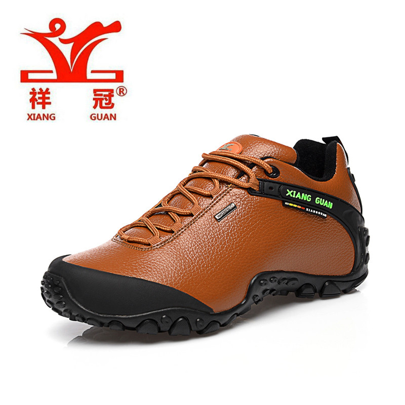 XiangGuan 2016 women low hiking boots,free shipping top quality genuine leather outdoor activity shoes Lichee Pattern shoes
