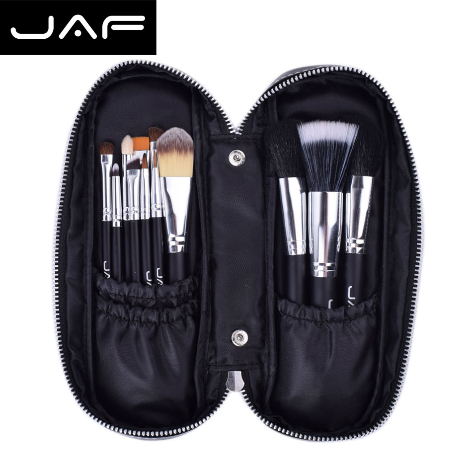 jaf 12pcs/set professional Makeup Brushes set & Tools with Zipper Case Cosmetics Make up Brush tool Kit Set maquiagem(China (Mainland))