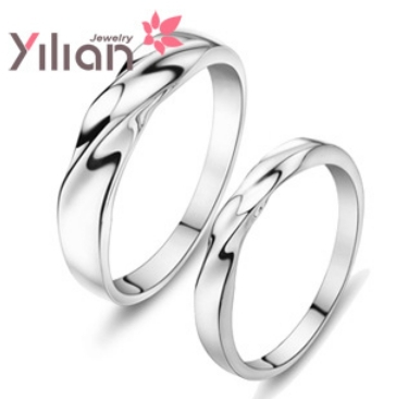 2013 YL couples ring 925 stamp silver & Christmas gift AAA grade crystal man woman rings wedding 1 pair - Life in Color Co.,Ltd store