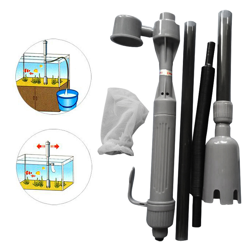 Aquarium Auto Electric Battery Syphon Siphon Fish Tank Vacuum Gravel Water Filter Cleaner Washer TB Sale(China (Mainland))