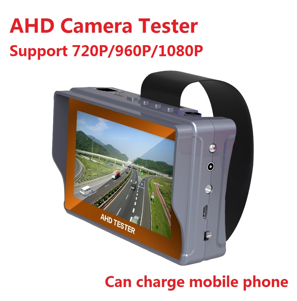 High Quality CCTV AHD Camera Tester 4.3 inch LCD Analog Video Test 12V Power Output Cable Test Ahd CCTV Tester Support 1080P(China (Mainland))