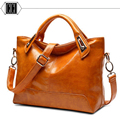 Hot Sale New 2016 Fashion Brand PU Leather Handbag Women Vintage Tote Cow Shoulder Messenger Bag