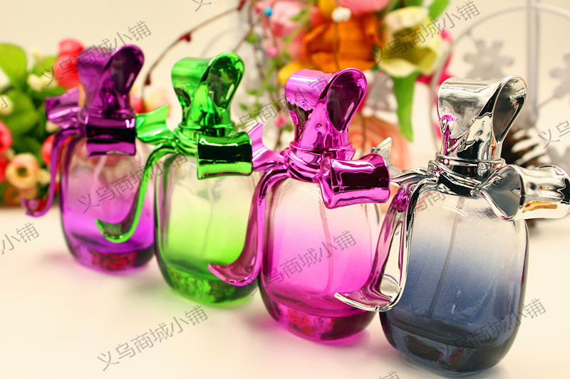 2pcs 50 ml bowknot fifth avenue perfume essential perfume bottles Stained glass spray bottles(China (Mainland))