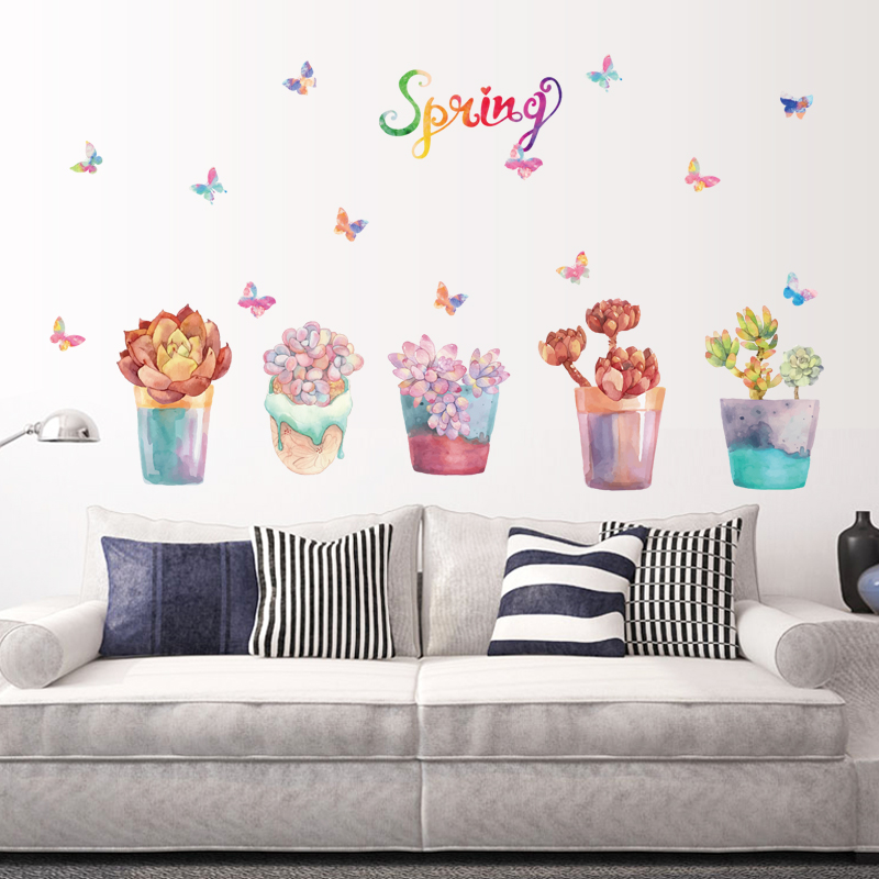 Wall Sticker Wall Decal Home Decor Adhesive Art Mural Spring flowers sk7013(China (Mainland))