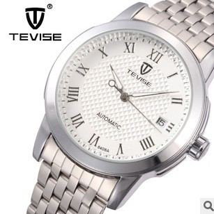The new TEVISE authentic automatic mechanical man watches stainless steel business force Locke waterproof men's table(China (Mainland))