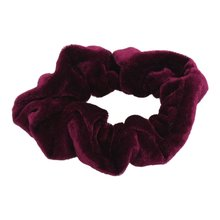 LNHF 5pcs/lot Burgundy Velvet Elastic Hair Tie Band Ponytail Holder for Women