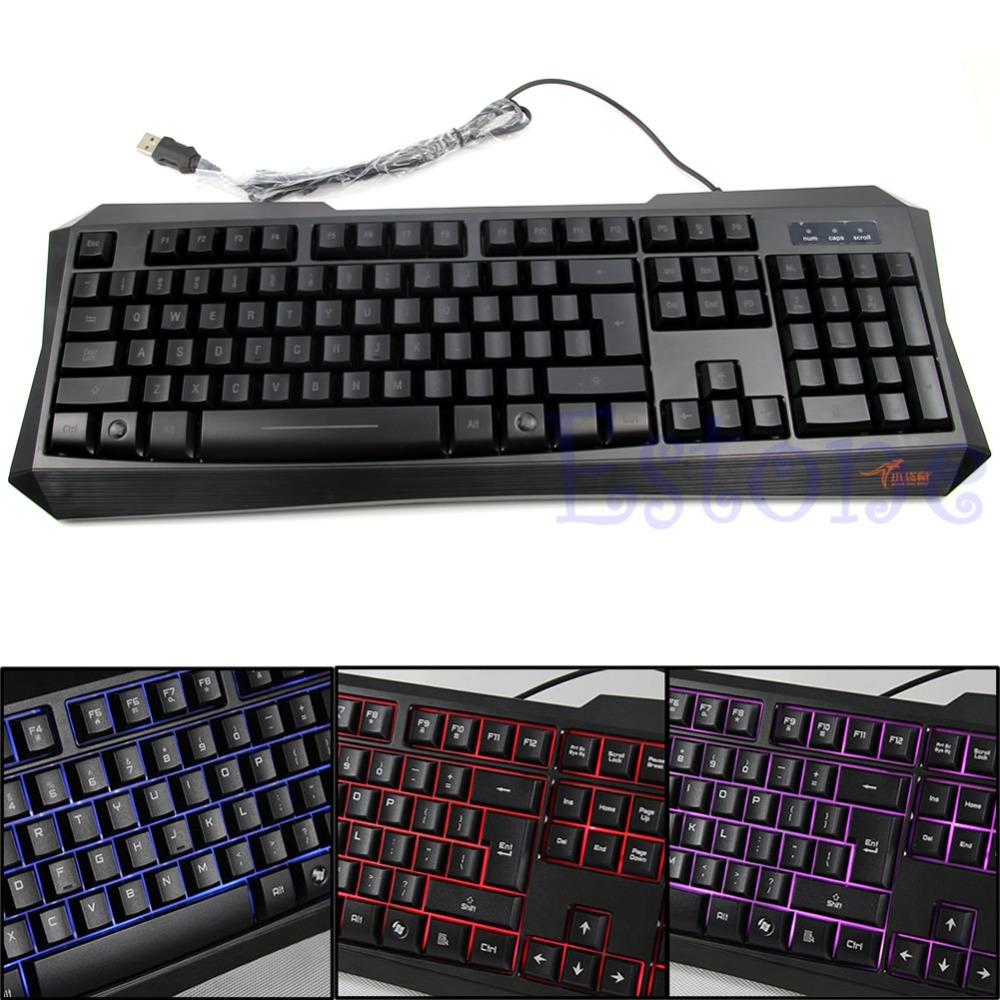 Original Brand 105 keys USB Wired Blue Backlight Professional Gaming Keyboard Key Board PC Computer Peripherals(China (Mainland))