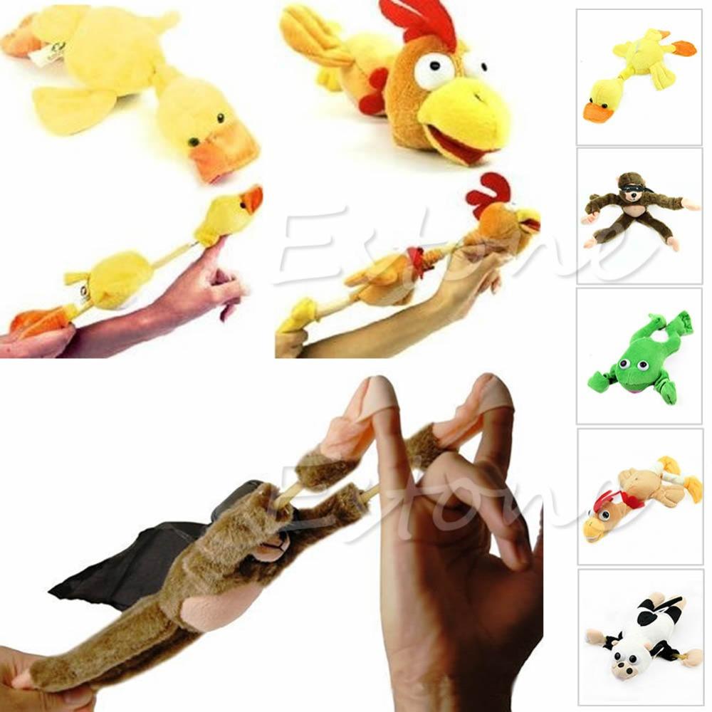 Гаджет  New Arrive Monkey Flying Slingshot Flying Plush Chicken Duck Screaming Novelty Fun Toys Kids None Игрушки и Хобби