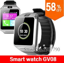 2016 Smart Watch GV08 PLUS with 1.3MP camera TF card slot Bluetooth wrist watch smartwatch for Android for iphone men and women