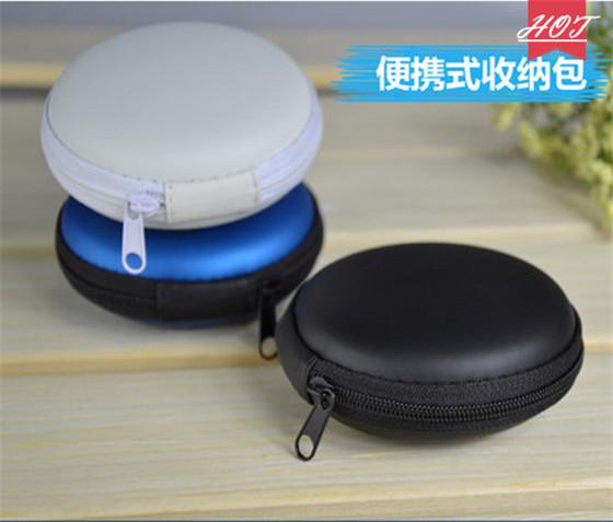 Earphone accessories High Quality Storage Case Carrying Hard Bag Box for Earphone Headphone(China (Mainland))
