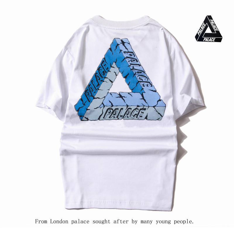 2017 palace hip hop Kanye West clothing painted triangle cotton hoodisT-shirt letters tim tebow jersey palace skateboard t shirt(China (Mainland))