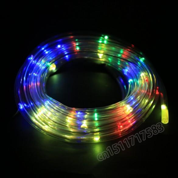 2015 diy 7M 50 Solar LED Rope Light Multi color Christmas