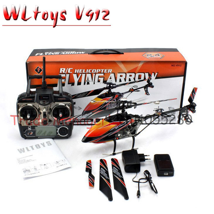 Free shipping Large rc Helicopter Wl toy v912 2.4g 4ch , outdoor Single-propeller helicopter, remote control Aeromodelling(China (Mainland))