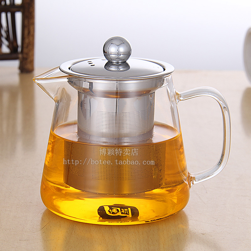 Bo ying tea bubble tea set can be heated glass teapot - Cup stainless steel teapot ...