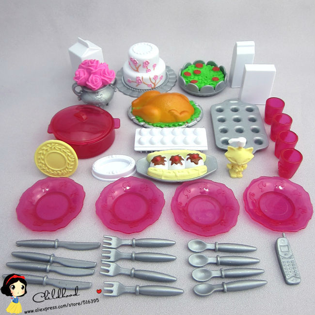 Barbie Toy Food : Doll house original food model and cup accessory
